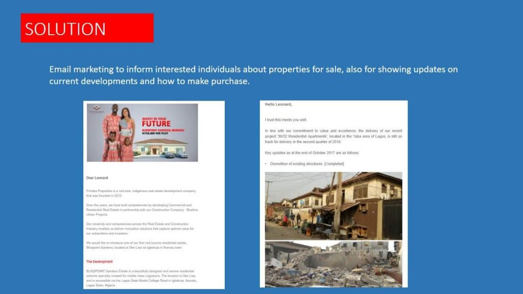 Prindex properties email marketing strategy
