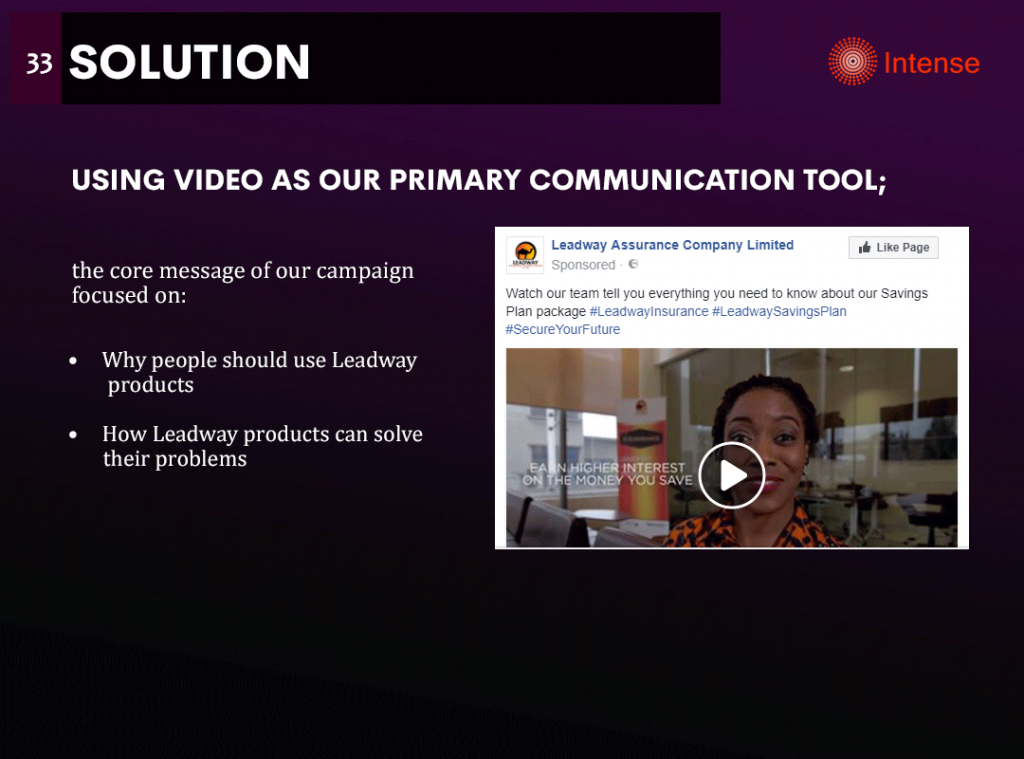 leadway assurance savings video strategy