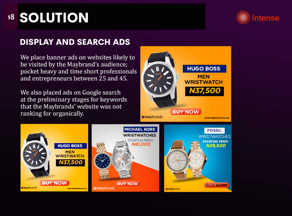 maybrands display and search ads